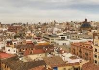 VIsta del centro histórico de Valencia