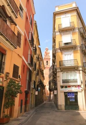 A deserted street in Spain